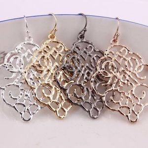 Jewelry - Moroccan Bohemian Metal Hanging Earrings!! (NWT)